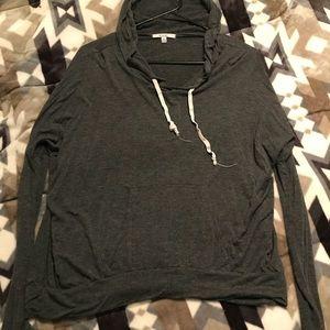 Tops - Gray Crop Sweatshirt